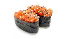 49 sushi tartare saumon ciboulette